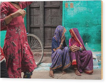 Indian Mood Wood Print by Marji Lang