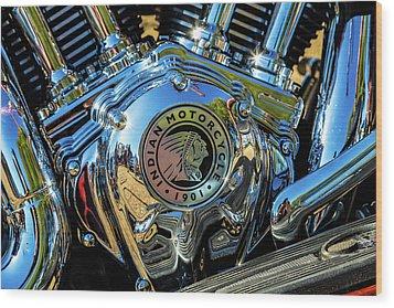 Indian Motor Wood Print by Keith Hawley