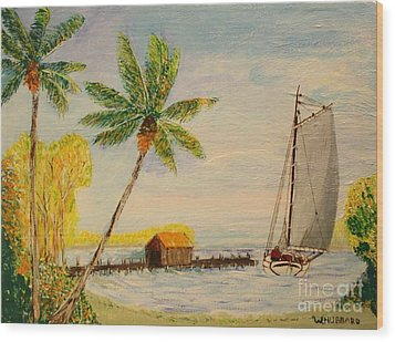 Indian River Mail Sloop 1908 Wood Print