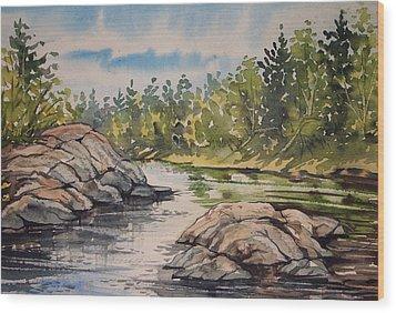 Indian River Ny 1 Wood Print