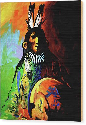 Indian Shadows Wood Print by Lance Headlee