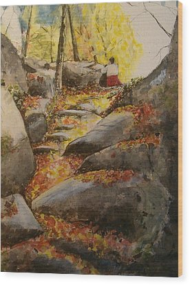 Indian Summer Columbus Day Wood Print
