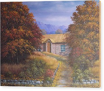 Indian Summer House Wood Print by Sean Conlon
