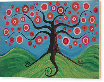 Indian Summer Wood Print by Pamela Cisneros