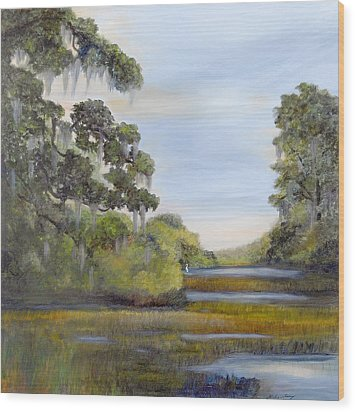Indian Summer Wood Print by Shirley Lawing