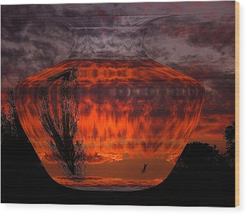 Wood Print featuring the photograph Indian Summer Sunrise by Joyce Dickens