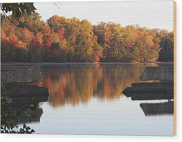Wood Print featuring the photograph Indian Summer by Vadim Levin