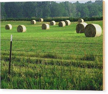 Indiana Hay Wood Print