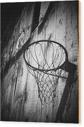 Indiana Hoop Wood Print by Michael L Kimble