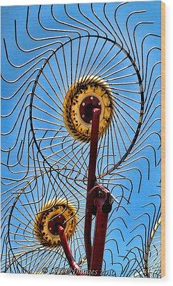 Indiana Sky Wood Print
