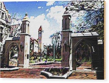Indiana University Gates Wood Print