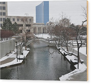 Indianapolis Canal Wood Print by Beverly Cazzell