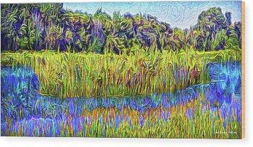 Indigo Lake Reflections Wood Print by Joel Bruce Wallach