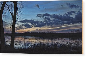 Wood Print featuring the photograph Indigo Skies by Cricket Hackmann