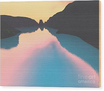 Indonesian Crater Lakes II Wood Print by Gaspar Avila
