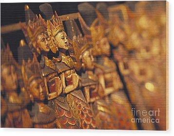Indonesian Dolls Wood Print by Dana Edmunds - Printscapes