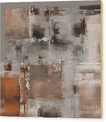 Industrial Abstract - 01t02 Wood Print