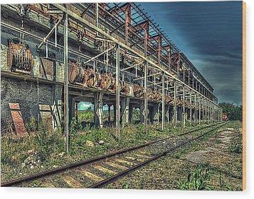 Industrial Archeology Railway Silos - Archeologia Industriale Silos Ferrovia Wood Print