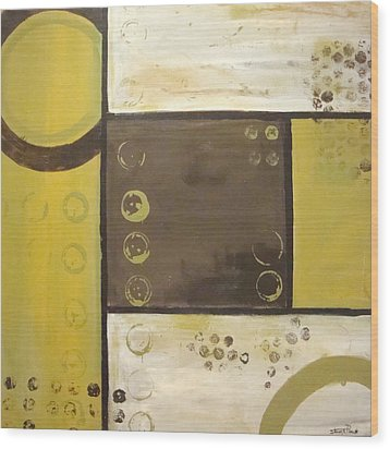 Industrial Circles No.2 Wood Print by Steven R Plout