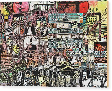 Industrial Complex 2 Wood Print by Andy  Mercer