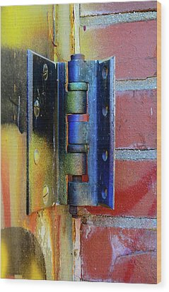 Wood Print featuring the photograph Industrial by Corinne Rhode