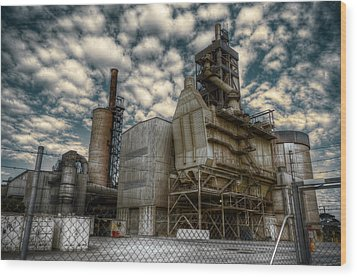 Industrial Disease Wood Print