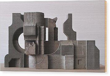 Industrial Landscape 1 Wood Print by David Umemoto