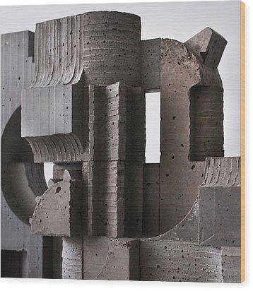 Industrial Landscape 2 Wood Print by David Umemoto