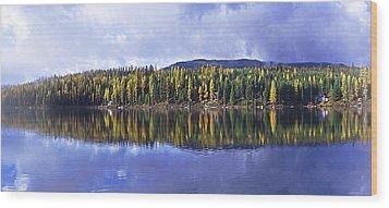 Wood Print featuring the photograph Inez Lake Montana by Janie Johnson