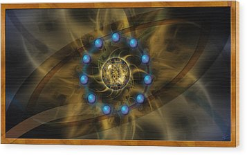 Infinite Lotus Wood Print by Kenneth Armand Johnson