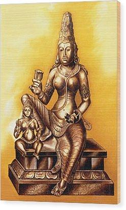 Wood Print featuring the painting Infinite Love by Ragunath Venkatraman
