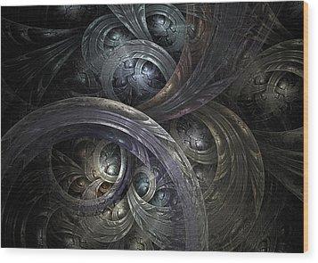 Infinite On-ramps Wood Print by David April