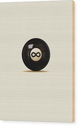 Infinity Ball Wood Print by Nicholas Ely