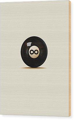 Infinity Ball Wood Print by Nicholas Ely