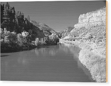 Infrared Black And White Wood Print by James Steele