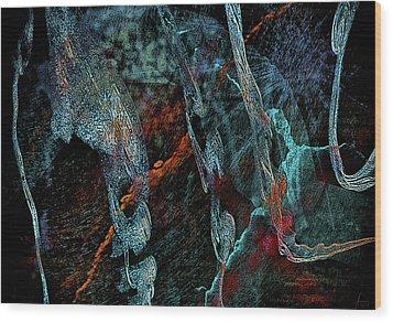 Inhabited Space Wood Print by Alex Galkin