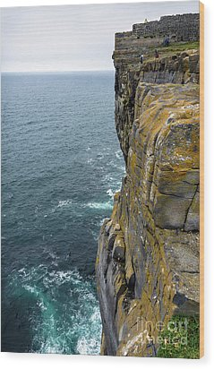 Wood Print featuring the photograph Inishmore Cliff And Dun Aengus  by RicardMN Photography