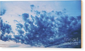 Wood Print featuring the photograph Ink Blot Sky by Colleen Kammerer