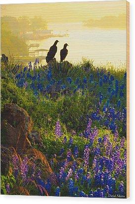 Da228 Inks Lake Love Daniel Adams Wood Print