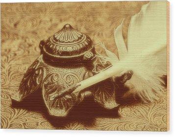 Inkwell I Wood Print by Tom Mc Nemar