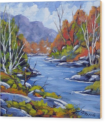 Inland Water Wood Print by Richard T Pranke