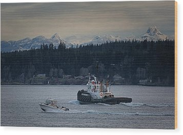 Wood Print featuring the photograph Inlet Crusader by Randy Hall