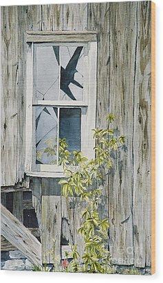 Wood Print featuring the painting Inner Beauty by Jackie Mueller-Jones