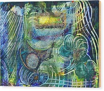 Inner Journey Wood Print by Ishwar Malleret