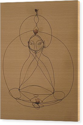 Inner Peace Wood Print by Live Wire Spirit