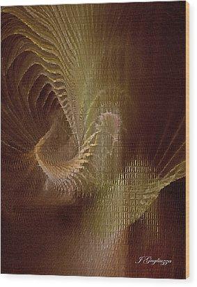 Inner Space Wood Print by Jean Gugliuzza