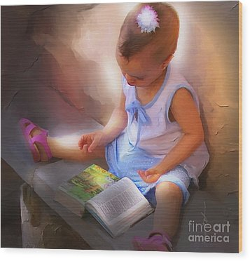 Innocence And The Bible - Cuba Wood Print by Bob Salo