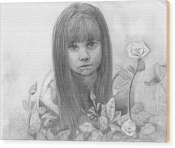 Innocence Wood Print by Katie Alfonsi