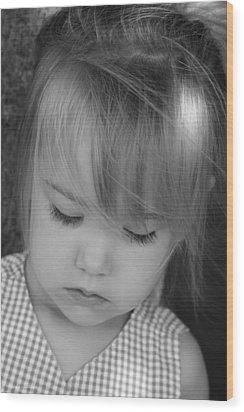 Innocence Wood Print by Margie Wildblood