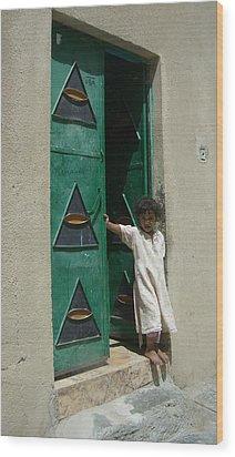 Innocence Wood Print by Sunaina Serna Ahluwalia